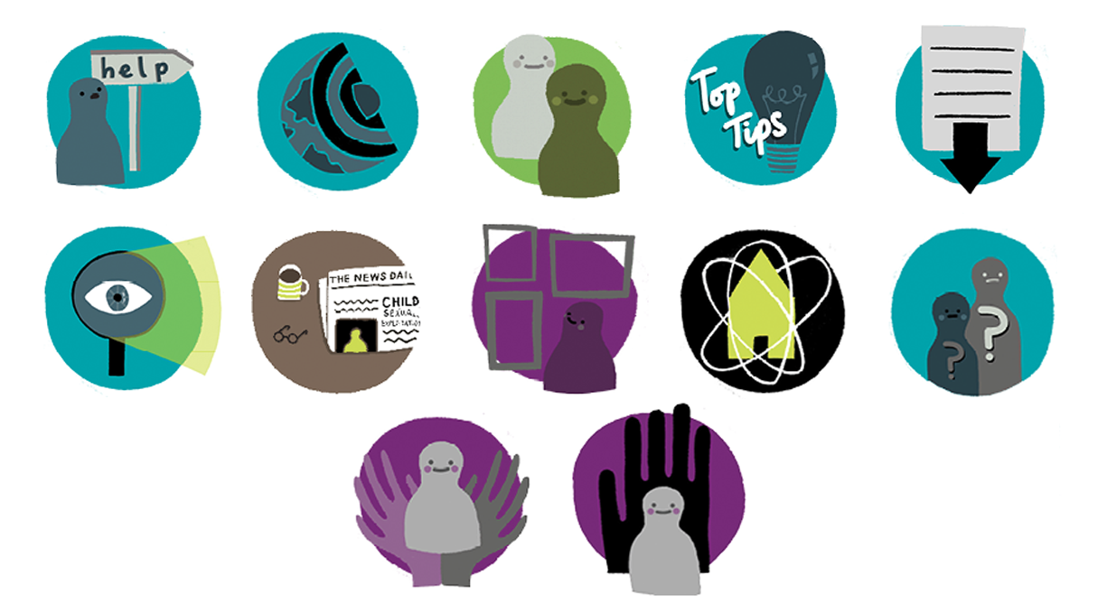 illustrated icons